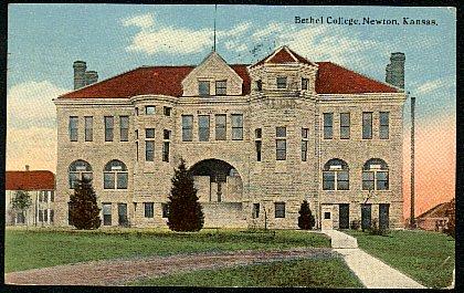 [image: Bethel College, Newton, KS: 1918 postcard]